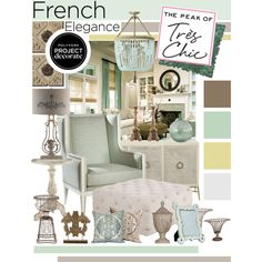 """#FrenchElegance With #PeakofTresChic And #Polyvore #ProjectDecorate"" by designsbytraci on Polyvore"