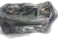 "Genuine Leather Duffel,Travel Bag, Weekender ""Team  Mitsubishi"" Logo"