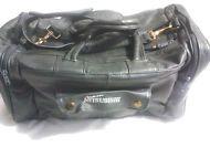 "Genuine Leather Duffel,Travel Bag, Weekender ""Team  Mitsubishi"" Logo"