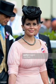 Princess Haya bint Al Hussein, attends day 4 of Royal Ascot at Ascot Racecourse on June 17, 2016 in Ascot, England. (Photo by Julian Parker/UK Press via Getty Images)