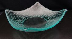 Carved Recycled Glass Vessel