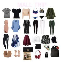 """""""MALL"""" by missflawlessbabe ❤ liked on Polyvore featuring Frame Denim, Melissa Odabash, Milly, NIKE, Chicwish, Miss Selfridge, Franco Sarto, JustFab, Stuart Weitzman and Sephora Collection"""
