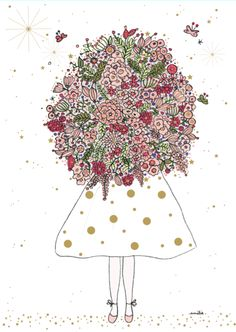amelie laffaiteur_carte fille bouquet