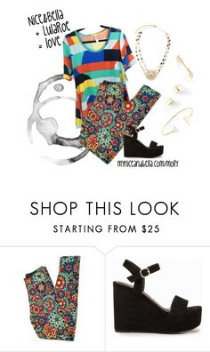 """""""Nice&Bella meets LuLaRoe"""" by redrawlins ❤ liked on Polyvore featuring Nly Shoes"""