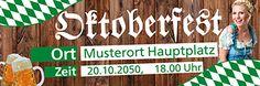 Werbebanner selbst formatieren von www.onlineprintxxl.com #werbebanner #partypeople #oktober #fest #brezel #bier