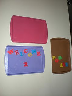 cookie sheet magnet boards!