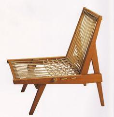 Riki Watanabe; 'Himo Isu' Chair, 1950.