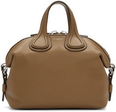 GIVENCHY Brown Small Nightingale Bag. #givenchy #bags #shoulder bags #hand bags #leather #lining #