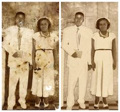 Quick Tech Tips from Photo Restoration Pros for Bringing Damaged, Dusty Family Photos Back to Life - Save Family Photos Old Family Photos, Family Photo Album, Old Photos, Vintage Photos, Old Photo Restoration, Photo Fix, Photo Elements, Photo Repair, Photoshop Photos