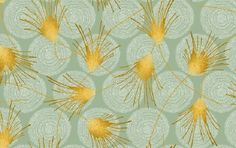 Quilting fabric, sage green and yellow