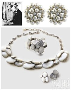 Pearl and mother-of-pearl jewels of the Duchess Of Windsor Wallis Simpson Wallis Simpson, Royal Jewelry, Jewelry Box, Jewelery, Royal Crowns, Tiaras And Crowns, Vintage Pearls, Vintage Jewelry, Queens Jewels
