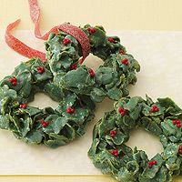 christmas cornflake wreaths