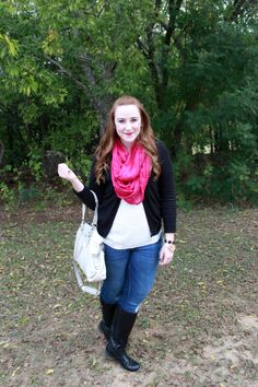 pop of color with a bold scarf [www.lifewithgraceblog.com]