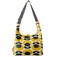 Orla Kiely: Matte laminated midi sling bag in Giant Oval Stem print