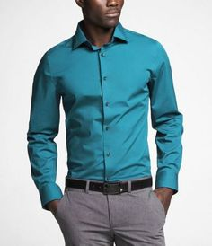 Express men, Turquoise. I like many of there clothes especially their dress shirts. They all look nice.