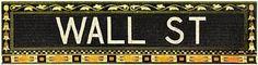 Wall Street Subway Sign Phil Maier Art Print