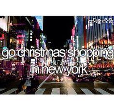 Go Christmas Shopping In New York.