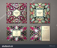 Flyer With Floral Mandala Pattern And Ornaments. Vector Flyer Oriental Design Layout Template, Size. Islam, Arabic, Indian, Ottoman Motifs. Front Page And Back Page. Easy To Use And Edit. - 419515699 : Shutterstock