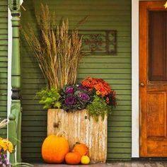Box planter on the porch