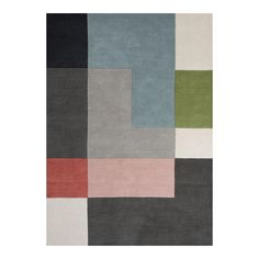 Tetris Rug from Stacks Furniture - waiting on trade quote Trendy Colors, Soft Colors, Vivid Colors, Pink Rug, Neutral Tones, Rug Making, Wool Rug, Scandinavian, Kids Rugs