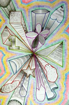 One-point perspective shapes - Artsonia Art Museum :: Artwork by Summer1396
