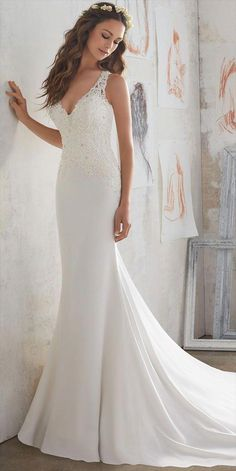 Weddings & Events Sporting 2019 Sexy Deep V Neck Informal Ivory Wedding Gowns Sheath Long Floor Length Sleeveless Open Back Lace Reception Wedding Dresses Lovely Luster