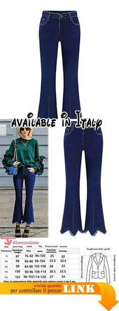 B072LCPS4V : Mena UK Donne estese Sezione jeans dritto Slim Hole slacciano grande pantaloni leggeri Piccolo zampa d'elefante Boot Cut Pant ( Colore : Azzurro  dimensioni : Xl ). Principale composizione del tessuto: cotone 98 (%). Dimensioni: cm Vedi la tabella di formato in alto a sinistra solo per il test. Dimensione: 25262728293031. Lavaggio: il lavaggio iniziale avrà un leggero scolorimento è possibile utilizzare il sale o aceto ammollo schiuma è un fenomeno