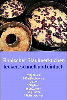 Blaubeerkuchen Rezept finnischer Blaubeerkuchen The post Blaubeerkuchen appeared first on Kuchen Rezepte. Blueberry Pie Recipes, Blueberry Cake, Ice Cream Recipes, Cupcake Recipes, Baking Recipes, Cookie Recipes, Snack Recipes, Dessert Recipes, German Recipes