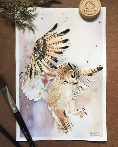 "6,496 Likes, 11 Comments - Watercolor illustrations  (@watercolor.illustrations) on Instagram: "" Watercolorist: @nabbit  #waterblog #акварель #aquarelle #drawing #art #artist #artwork #painting…"""