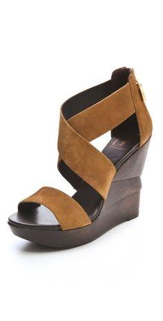 Diane von Furstenberg    Opal Suede Crisscross Wedge Sandals  Style #:DIAVF41179  $298.00