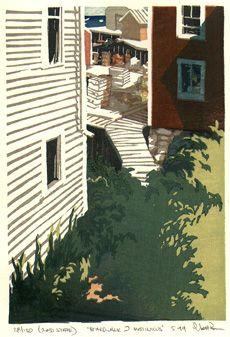 Matinicus. Woodblock print by Matt Brown