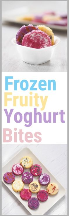 Frozen Fruity Yoghurt Bites made with fresh fruit for healthy snacking ✨ #vegan #glutenfree #yoghurt #frozen #bites #fruit #snack #dessert #healthy #easy