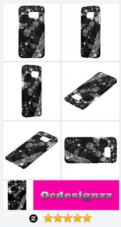 Shop Black Silver Bling Samsung Galaxy Case created by TeensEyeCandy. Personalize it with photos & text or purchase as is!