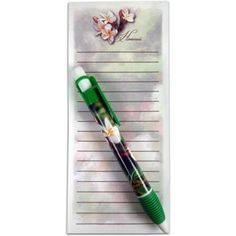 Hawaii Magnetic Stationary Notepad with Pen Plumeria