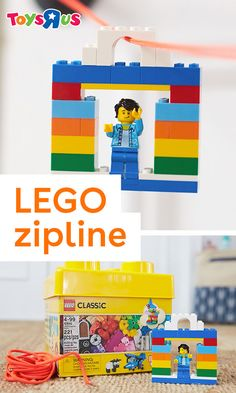 This DIY LEGO zipline is a great way to add some new play to LEGO bricks. We'll teach you how to make it—it's a snap!