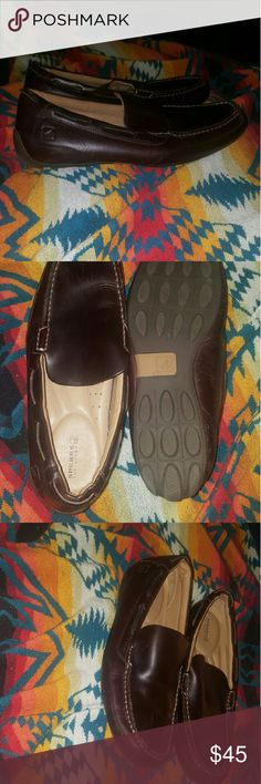 12 SPERRY slip on mens shoe casual or dress SPERRY 12 SLIP ON LEATHER THROUGHOUT SUPER COMFORTABLE 12M DARK BROWN WORN TWICE Sperry Top-Sider Shoes Loafers & Slip-Ons