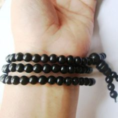 Bian Stone Bianchi Black Bracelet; Men Jewelry; Traditional Bead Bracelet;