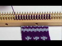Changing Colors in Double Knitting - YouTube