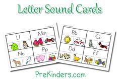 These are great! Print the cards and have your child clip the picture that starts with each letter. He can flip it over to find the correct answer on the back.