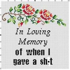 In loving memory of when I gave a sht Cross by SnarkyArtCompany