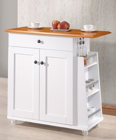 Look what I found on #zulily! White & Cherry Kitchen Cart #zulilyfinds