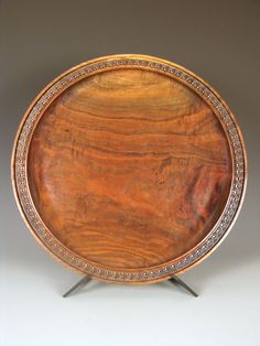 "Look at that color! Walnut, 2"" x 20.5"", by Ron Gerton -- what I really love is the wedge detail"