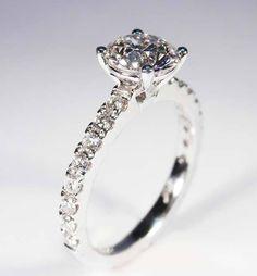 1.09ct round brilliant cut diamond set in platinum with 4 claw split scallop setting. What a stunning custom-made piece. #roundbrilliantcut #platinum #engagementring #engagementringsbrisbane #engagementringssydney #1carat #diamond #wedding