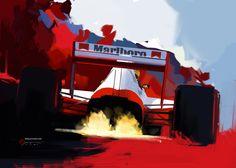 McLaren MP4/5 by Vadim Artemyev