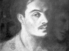 Khalil Gibran - self portrait (1908)