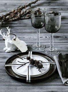 Une table de Noël élégante et atypique