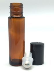 roll on bottles Our essential oil roll on bottles are perfect for your own homemade DIY projects!  The 10ml clear glass roll-on bottles come with stainless steel, glass or plastic roller inserts!  You will not find a higher quaily roller bottle at a better price!  We now offer more tools to help your aroma business!  We now have 10 ml amber glass roll on bottles!  Our roller bottles for essential oils are high quality.  http://www.gotoilsupplies.com/roller-bottles/