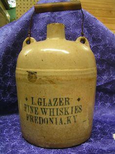 Evan Williams Whiskey Jug Earthstone Bottle Kentucky