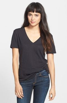 Free shipping and returns on rag & bone/JEAN 'The Classic V' Cotton Tee at Nordstrom.com. This essential V-neck tee is expertly crafted from pure cotton with clean, cool lines in the effortless rag & bone style.