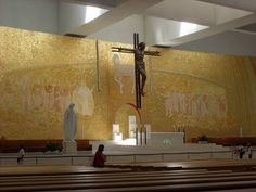 Inside church. Our Lady of Fatima, Portugal